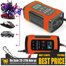 Universal carregador de bateria carro 12v 6a lcd inteligente carregamento de energia rápida reparação pulso da motocicleta automóvel