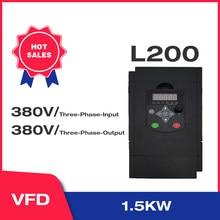 Angisy 1.5KW/2.2KW 380V 3-fazy wejściowe i 380V 3-fazy wyjściowe przetwornica częstotliwości 60HZ do 50HZ L200