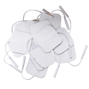 Image 2 - 10 יח\חבילה 5x5cm Ems עצב שריר ממריץ סיליקון ג ל רפידות אלקטרודה עשרות אלקטרודות דיגיטלי טיפול מכונה עיסוי 2mm תקע