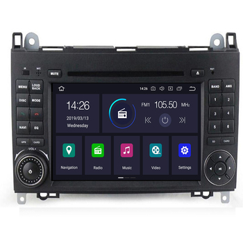 Android 102Din Auto Radio Car DVD GPS Head unit for Mercedes Benz B200 B Class W169 W245 Viano Vito W639 Sprinter W906 Bluetooth image