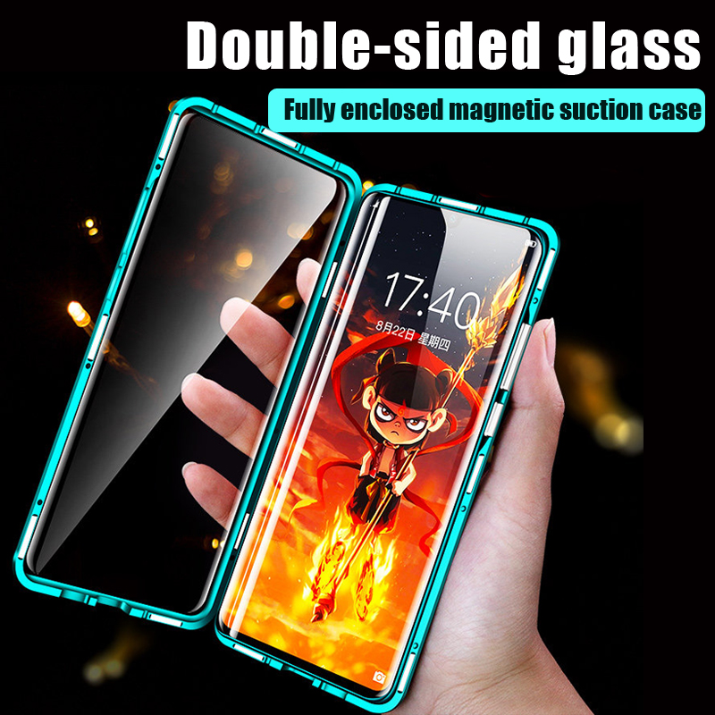 360 Full Cover Double Sided Glass Magnetic Case For Xiaomi Redmi Note 10Lite 9S 9 8 7 6 5 4 Pro 8A 7A 6A 5A 4A 4X 5 Plus Cover