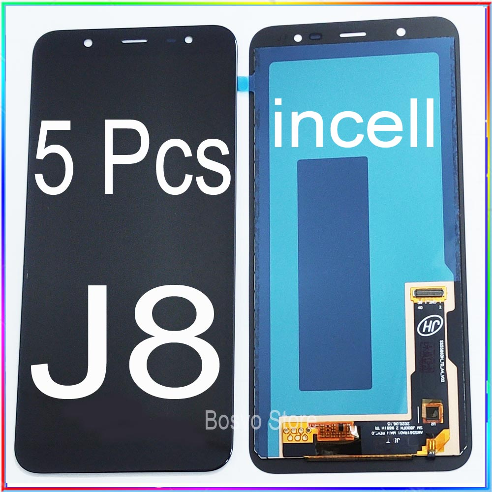 WholeSale 5 Pcs/lot for <font><b>samsung</b></font> <font><b>J8</b></font> <font><b>2018</b></font> <font><b>LCD</b></font> Screen Display with Touch Digitizer Assembly J810 incell image