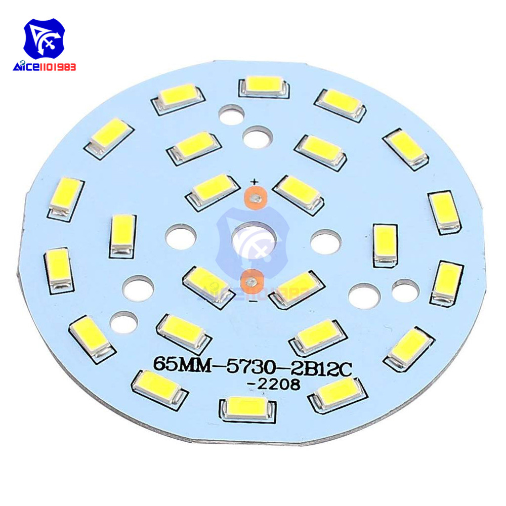 Diymore Dia. 65mm 12W 24 LEDs 5730 SMD Warm White LED Ceiling Light Aluminum Board