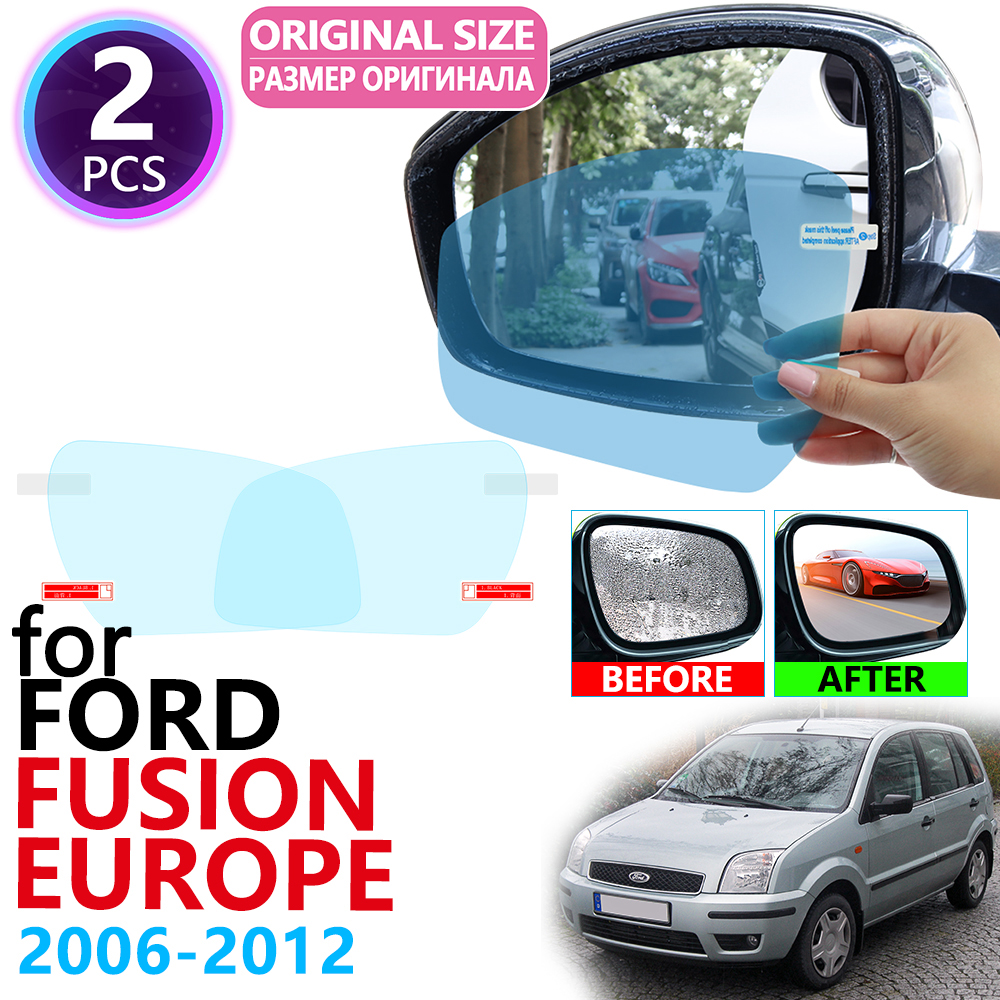For Ford Fusion Europe Model 2006~2012 Full Cover Rearview Mirror Rainproof Anti Fog Film Accessories 2007 2008 2009 2010 2011