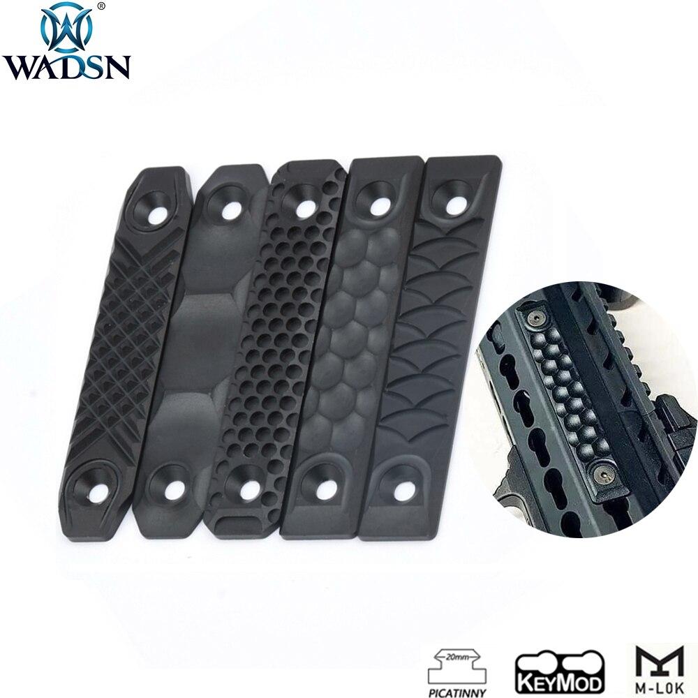 WADSN Airsoft RS CNC Aluminum Handguard M lok Rail Cover For Keymod M- lok Rail System Softair Picatinny Rail Hunting Accessory(China)
