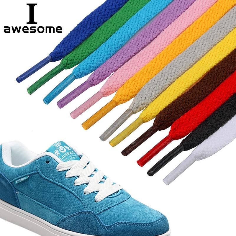 29 Colors 1 Pair Shoelace Flat Popular Sports Shoes Laces Casual Canvas Unisex Polyester Shoelaces Shoelace Length 80 100 120 CM