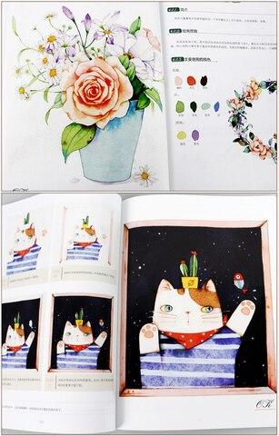 pintura livro para adulto aquarela quente ilustracao mao desenhado tutorial