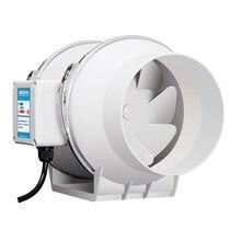 4 Polegada powful silencioso ventilador de exaustão do duto do ventilador jardim farmland janela impulso de fluxo de ar ventilação da tubulação extrator 220v