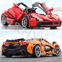XQ1001 XQ1002 McLaren P1 Hypercar Ferraried Racing Sports Car Motor Power Function Technic Building Blocks Bricks Kids Gift Toy