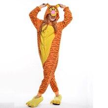 Tiger Unisex Adult One-Piece Pajamas Cosplay Onesies Large Cartoon One-piece Animal Sleepwear Pyjamas Christmas Costume