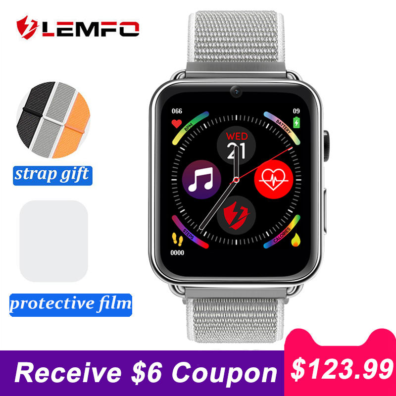 LEMFO LEM10 4G Smart Watch Phone Android 7.1 3GB+32GB Support GPS / WiFi / SIM Card / Heart Rate Monitor 2MP Camera Smartwatch
