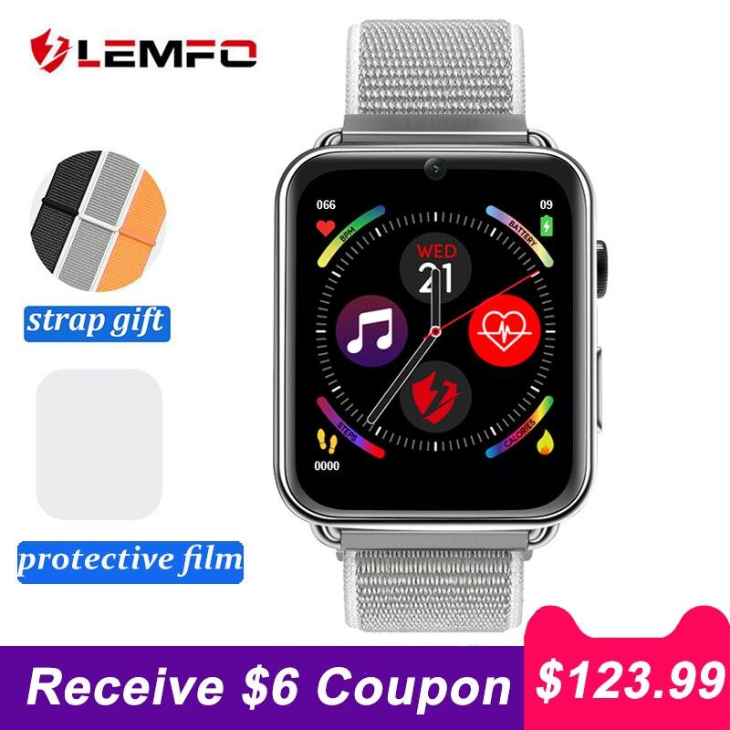 LEMFO LEM10 4G montre intelligente téléphone Android 7.1 3GB + 32GB prise en charge GPS/WiFi/carte SIM/moniteur de fréquence cardiaque 2MP caméra Smartwatch-in Montres connectées from Electronique    1