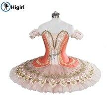 Peach fairy ballet tutu pink adult nucracker costumes pancake professional women BT9098