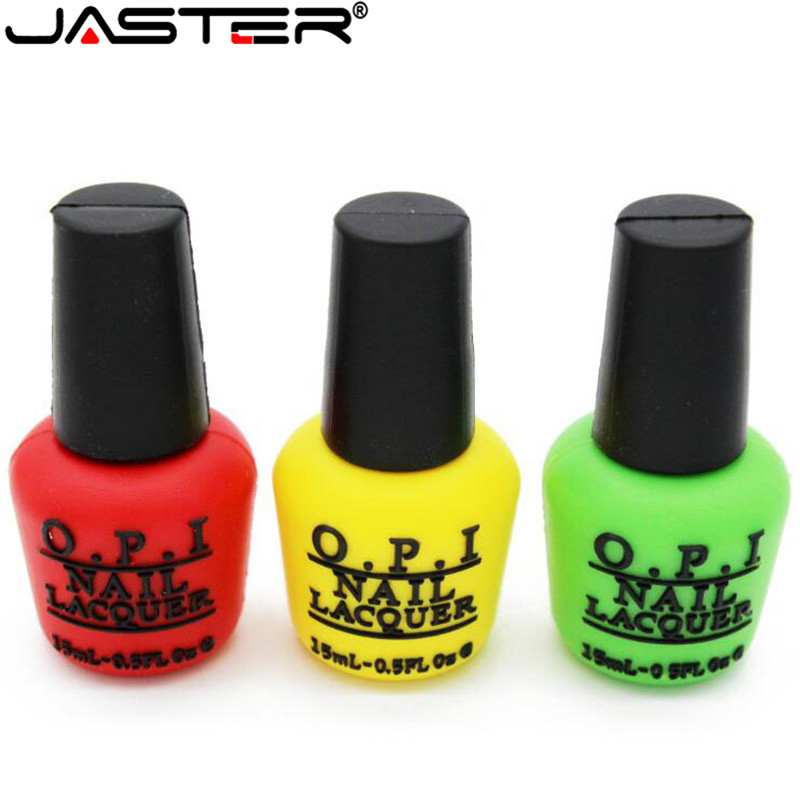 JASTER Nail Polish Model Usb Flash Drive Creative Usb 2.0 Pen Drive 4GB 8GB 16GB 32GB 64GB USB Memory Stick Gift Pendrive