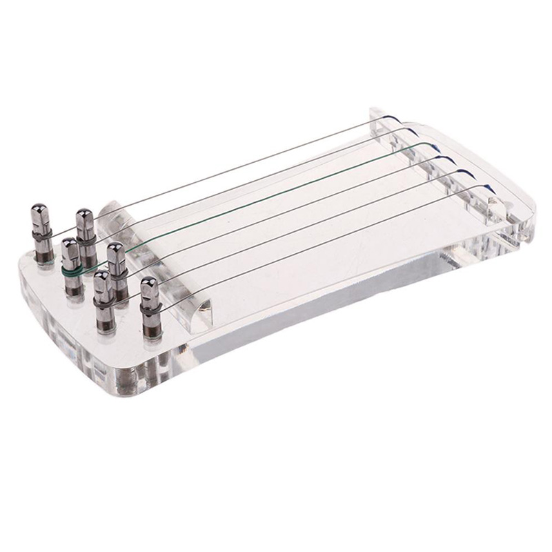 6 Strings Crystal Transparent Finger Hand Trainer For Guzheng Chinese Zither