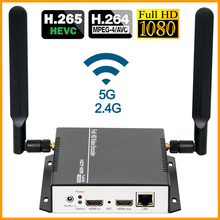 جهاز تشفير الفيديو عالي الوضوح عالي الوضوح من HEVC HDMI إلى RTSP RTMP RTMP M3U8 SRT جهاز تشفير بث الفيديو اللاسلكي H265 H.264 عالي الدقة إلى IP جهاز تشفير تيار IPTV وwifi