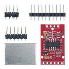 10 pces hx711 duplo canal 24 bit a/d conversão módulo sensor de pesagem com metal shied frete grátis