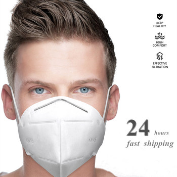 4 Layer KN95 Dust Masks KN95mask Anti-fog Breathing Face Mouth Masks 95% Filtration Ffp2mask KN95ff2 KN95filter Anti Smoke Cover