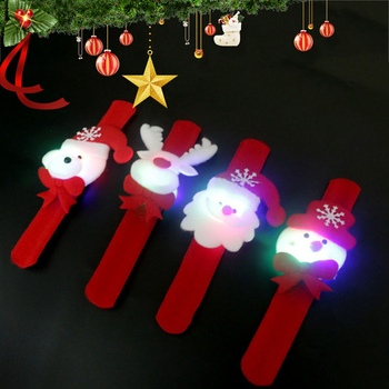 NEW Christmas Decorations Patting Circle Children Gift Santa Claus Snowman Deer New Year Party Toys image