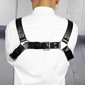 Leather Harness Intimo Sexy Erotico Bdsm Bondage Pastel Goth gg Belt The Shoulder Belt Men Wedding Garter Harajuku Set Suspender