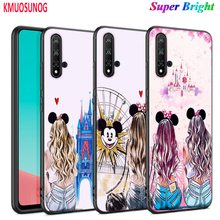 Black Cover Cute Girlfriend BFF for Huawei Nova 5 5T 3i P Smart Z Plus 2019 P40 P30 P20 Pro P10 P9 Lite Plus Phone Case spider man for case huawei nova 3 3i p30 lite cover for huawei p30 p20 lite pro p smart 2019 p10 p9 lite case for huawei p30 pro