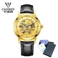 Cadisen relógio automático dos homens 2019 marca de topo luxo famoso masculino relógio de pulso relógio de cristal safira relógio de pulso relogio masculino|Relógios mecânicos| |  -