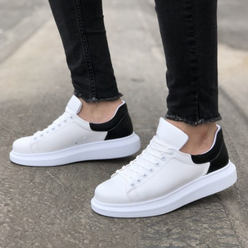 Chekich CH256 White / Black Lace-up Men Running Style Fashion Thick Sole Shoes Socks Sport Shoes кеды Sneakers Spring 2020