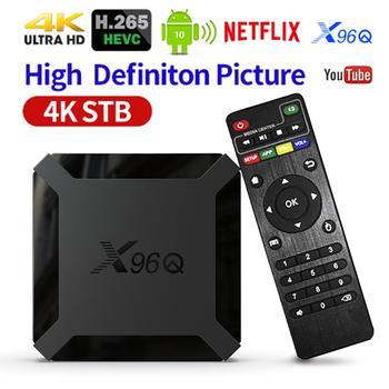 TV BOX Android 10.0 X96Q TV Box Allwinner H313 Quad Core 4K Smart Android TV 2.4G Wifi Support Netflix Youtube X96 Q Set Top Box smart tv set top box amlogic s905x2 h96max x2 tv boxes 4gb64gb 1080p h 265 android8 1 tv box support youtube netflix tv boxing