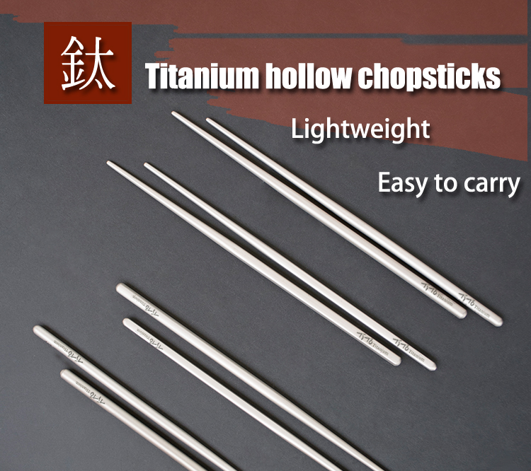 Outdoor Camping Tableware Titanium Alloy Chopsticks For Hiking Traveling