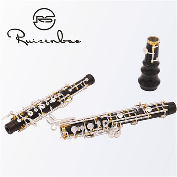 New advanced oboe C key semiautomatic composite wood oboe,gold-plating keys