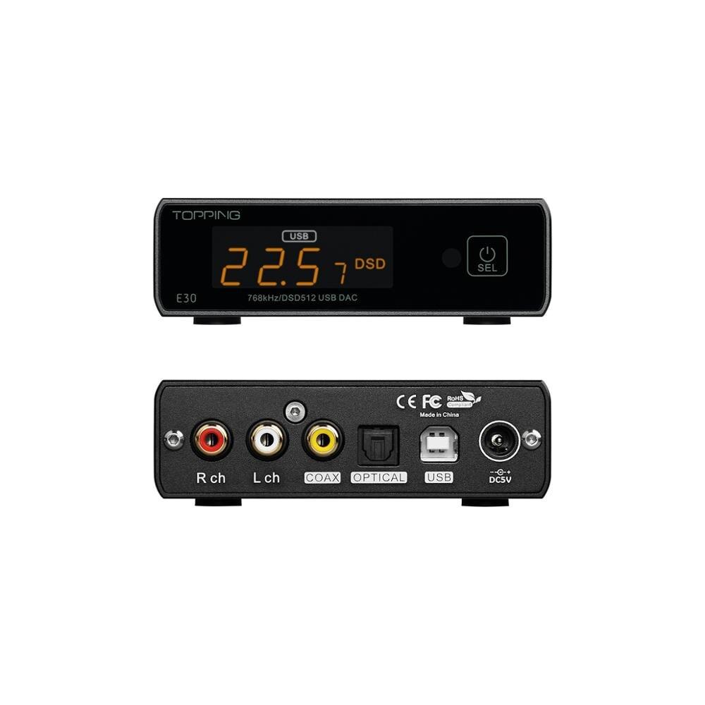 TOPPING E30 DAC AK4493 XU208 32bit/768k DSD512 opération tactile avec télécommande décodeur haute résolution - 2