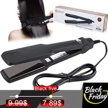 Kemei hair straightener Fast Heating New Flat Iron Straighte