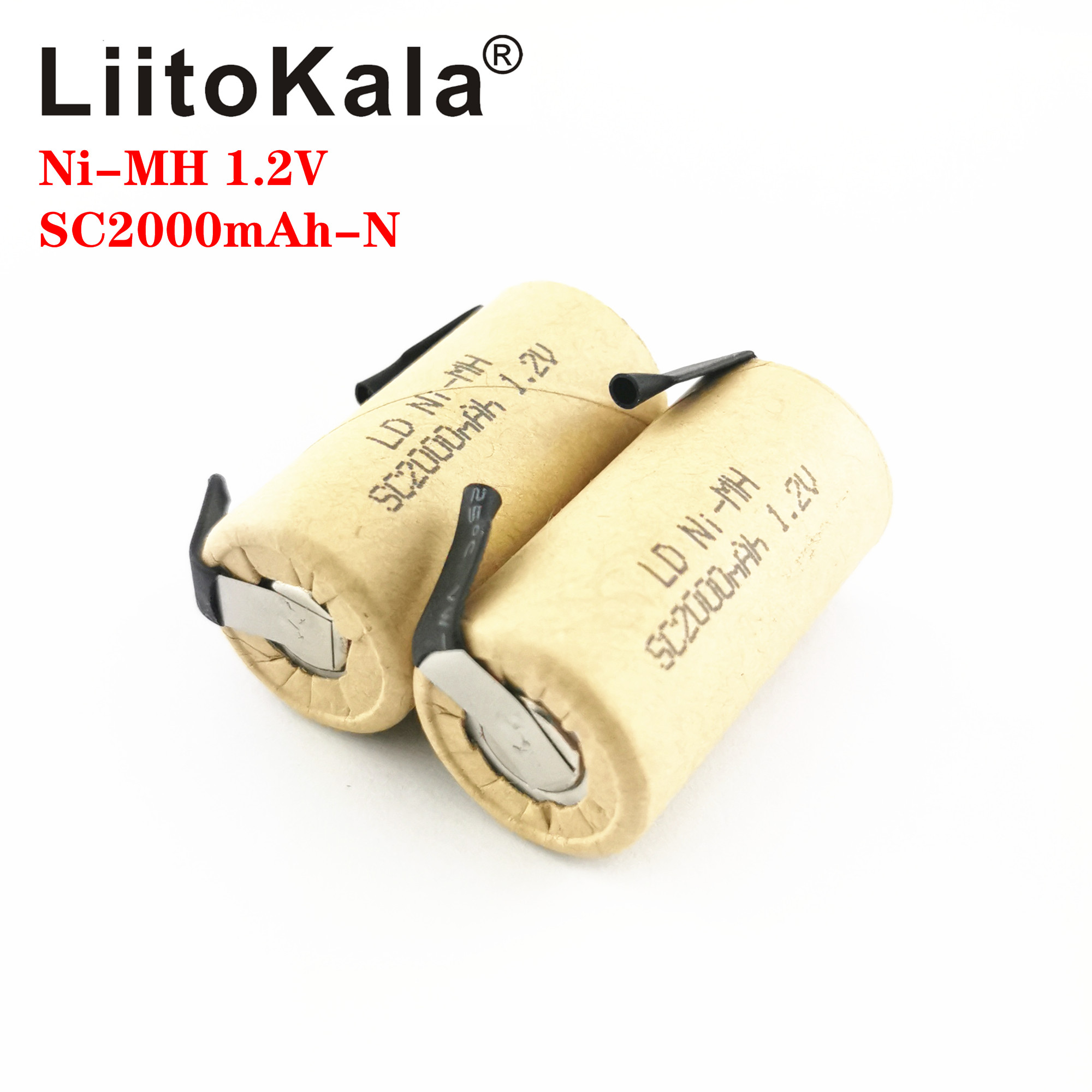 LiitoKala <font><b>Ni</b></font>-<font><b>MH</b></font> <font><b>1.2V</b></font> SC 2000mAh <font><b>Ni</b></font> <font><b>MH</b></font> high power tool battery cell discharge rate 10C rechargeable batteries cells DIY nicke image