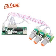 Ghxamp pt2313/tm2313 amplificador de controle digital tone board áudio mini pré-amplificador baixo tweeter painel dc12v 61*26mm