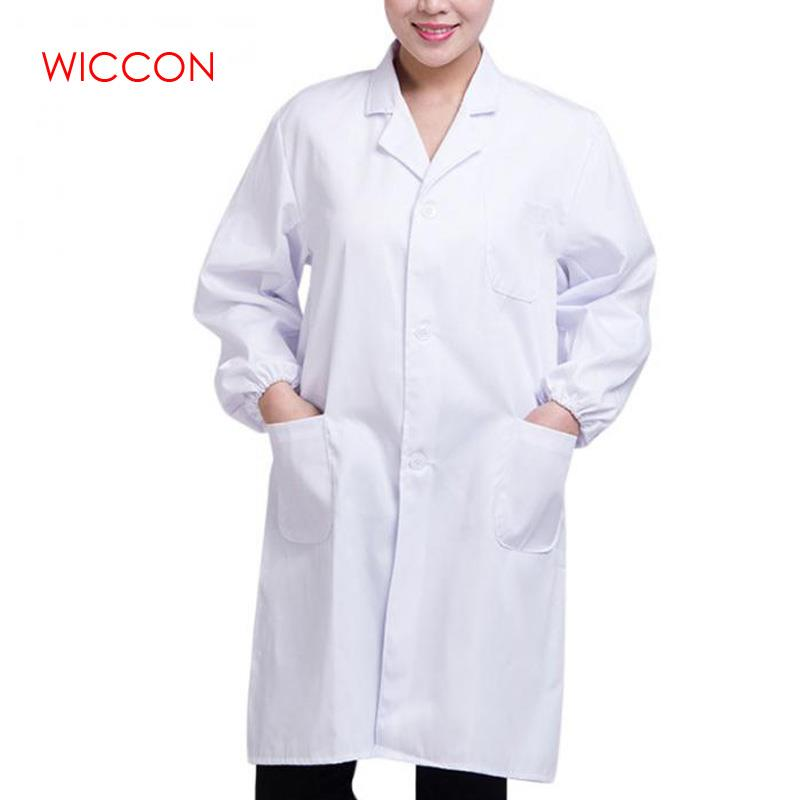 WICCON Fashion Hot White Lab Coat For Men And Women Doctor Hospital Scientist School Fancy Loose Coat Costume Students Adults