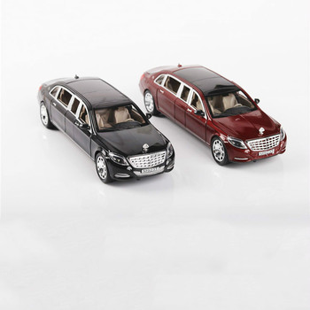 Collectible Alloy Scale Car Models Die-cast Coche Toys For Children Mkd2 Auto Vehicle Acoustic-optic 1:24 Maybach Metalz S600 image