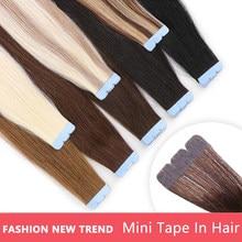 MRSHAIR Mini bande dans les Extensions de cheveux Micro Interface bande MachineRemy 100% Extensions de cheveux humains 3x0.8cm adhésif invisible