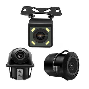 цена на BYNCG HD CCD Night vision Reverse Camera 140 Angle Car Rear view Camera IP67 DC 12V/24V Vehicle Camera for VW Ford Toyota & More