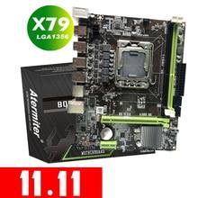 Atermiter x79 lga 1356 placa mãe suporte reg ecc servidor de memória e xeon e5 processador usb 2.0 sata 2.0 lga 1356