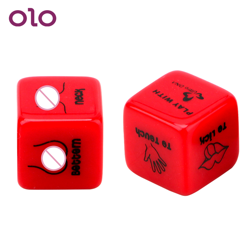 OLO 2Pcs/lot Sex Dice Adult Games 6 Positions Erotic Sex Toy For Adult Couples Sexy Romance Love Humour Gambling Punishment