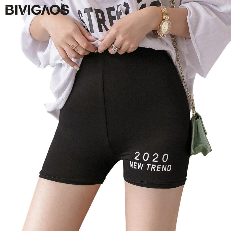 BIVIGAOS 2020 New Trend Casual Panties Shorts Women Summer Thin Fitness Sport Biker Shorts Elastic Modal Skinny Sexy Mini Shorts