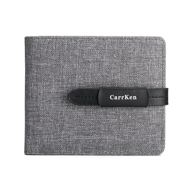 2020 New Men Wallets Small Wallet Men Coin Bag Drawstring Short Male Wallet Oxford Fabric Card Holder Purse Billetera Hombre