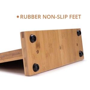 Image 3 - Магнитный держатель для ножей с мощным магнитом, большой бамбуковый деревянный блок для ножей без ножей, двухсторонний Универсальный блок для ножей