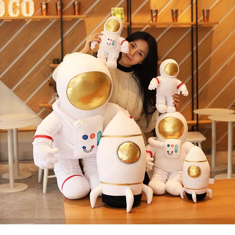 Simulation Space Series Plush Toys Astronaut Spaceman Rocket Spacecraft Stuffed Plush Doll Sofa Pillow Boys Kids Birthday Gifts