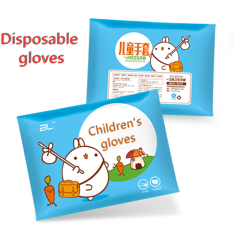 New 100pcs Disposable Children's Vinyl Gloves Acid And Alkali Resistant Latex Gloves Dishwashing Kitchen  Work Gloves