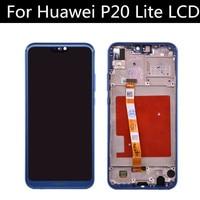 Original For HUAWEI P20 Lite Lcd Display Screen touch screen pannel digitizer assembly ANE LX1 ANE LX3 Nova 3e LCD P20 lite