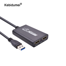 Kebidumei USB3.0 1080P 60FPS HDMI Live Streaming Dongle USB 3,0 игровая коробка для видеозахвата для Xbox PS3 PS4 Play