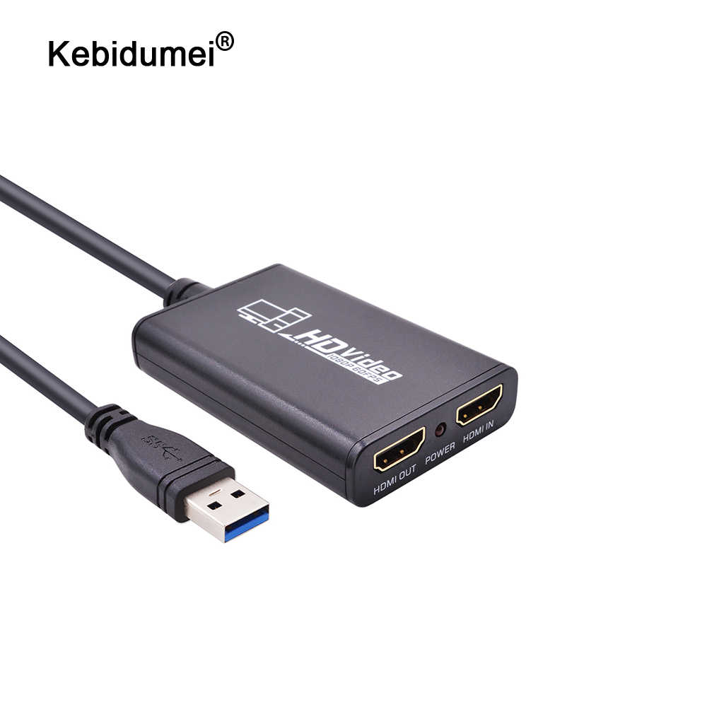 Kebidumei USB3.0 1080P 60FPS HDMI Live-Streaming Dongle USB 3.0 Spiel Video Capture Box für Xbox PS3 PS4 Spielen