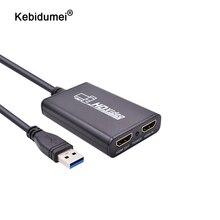 Kebidumei USB 3,0 1080P 60FPS HDMI Live Streaming Dongle USB 3,0 Spiel Video Capture Box für Xbox PS3 PS4 spielen