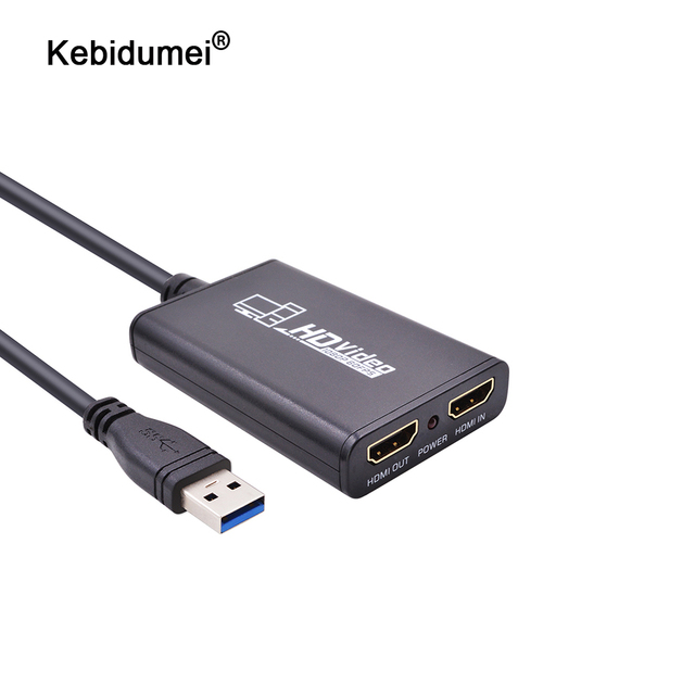 kebidumei USB3.0 1080P 60FPS HDMI Live Streaming Dongle USB 3.0 Game Video Capture Box for Xbox PS3 PS4 Play